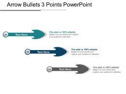 Arrow Bullets 3 Points Powerpoint