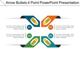 Arrow Bullets 4 Point Powerpoint Presentation