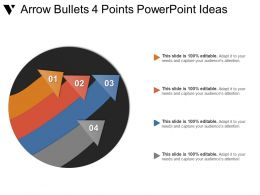 Arrow Bullets 4 Points Powerpoint Ideas