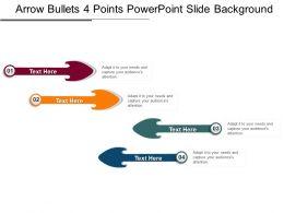 Arrow Bullets 4 Points Powerpoint Slide Background