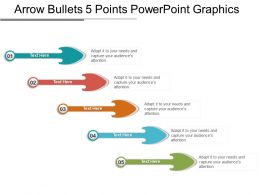 Arrow Bullets 5 Points Powerpoint Graphics