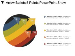 Arrow Bullets 5 Points Powerpoint Show