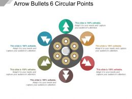 Arrow Bullets 6 Circular Points