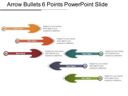 Arrow Bullets 6 Points Powerpoint Slide
