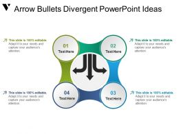 Arrow Bullets Divergent Powerpoint Ideas