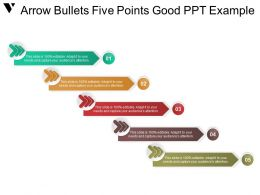 Arrow Bullets Five Points Good Ppt Example
