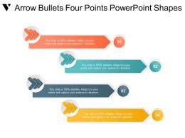 Arrow Bullets Four Points Powerpoint Shapes