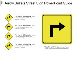 Arrow Bullets Street Sign Powerpoint Guide
