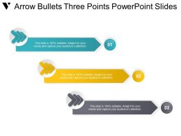Arrow Bullets Three Points Powerpoint Slides