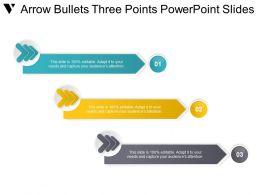 Arrow Bullets Three Points Powerpoint Slides