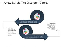 Arrow Bullets Two Divergent Circles