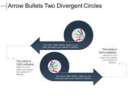 Arrow Bullets Two Divergent Circles