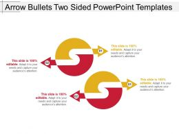 Arrow Bullets Two Sided Powerpoint Templates