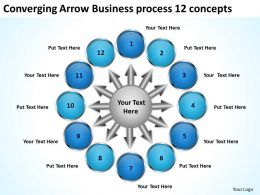 arrow business powerpoint theme process 12 concepts Cycle Slides