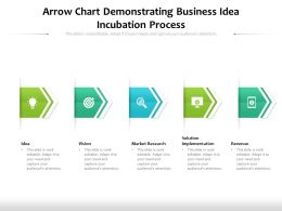 Arrow Chart Demonstrating Business Idea Incubation Process