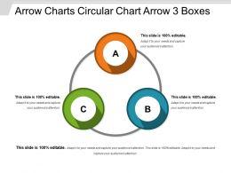 Arrow Charts Circular Chart Arrow 3 Boxes