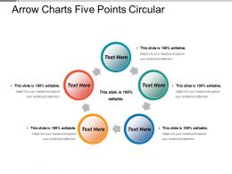 Arrow Charts Five Points Circular