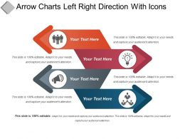 Arrow Charts Left Right Direction With Icons