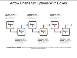 Arrow Charts Six Options With Boxes