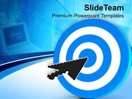 Arrow Cursor On Target Computer Internet Powerpoint Templates Ppt Themes And Graphics 0213