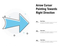 Arrow Cursor Pointing Towards Right Direction