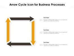 Arrow Cycle Icon For Business Processes