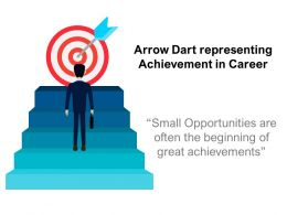 Arrow Dart Representing Achievement In Career