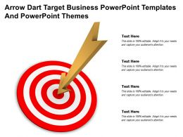 Arrow Dart Target Business Powerpoint Templates And Powerpoint Themes