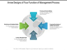 Arrow Designs Of Four Function Of Management Process