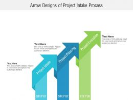 Arrow Designs Of Project Intake Process