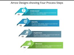 Arrow Designs Showing Four Process Steps