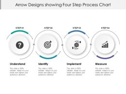 Arrow Designs Showing Four Step Process Chart