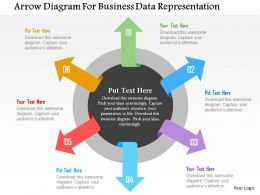 Arrow Diagram For Business Data Representation Flat Powerpoint Design