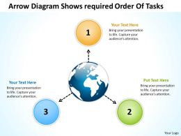 arrow diagram shows required order of tasks Arrows Software PowerPoint templates