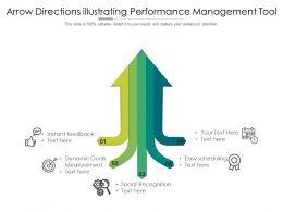 Arrow Directions Illustrating Performance Management Tool