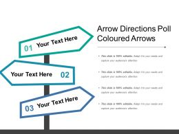 Arrow Directions Poll Coloured Arrows