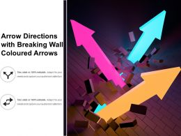 Arrow Directions With Breaking Wall Coloured Arrows
