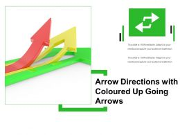 Arrow Directions With Coloured Up Going Arrows