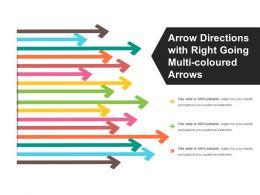 Arrow Directions With Right Going Multi Coloured Arrows