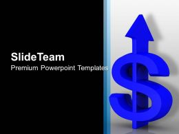 Arrow Dollar Pointing Upwards Marketing PowerPoint Templates PPT Themes And Graphics 0113