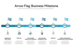 Arrow Flag Business Milestone