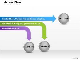 Arrow flow PowerPoint Template Slide