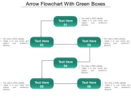 Arrow Flowchart With Green Boxes