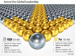 Arrow For Global Leadership Image Graphics For Powerpoint