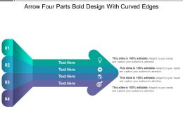 Arrow Four Parts Bold Design With Curved Edges