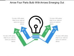 Arrow Four Parts Bulb With Arrows Emerging Out