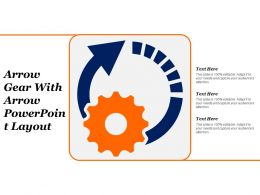 Arrow Gear With Arrow Powerpoint Layout