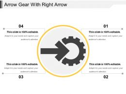 Arrow Gear With Right Arrow