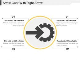 Arrow Gear With Right Arrow