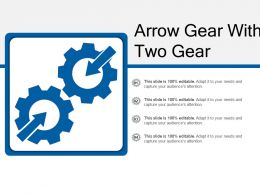 Arrow Gear With Two Gear